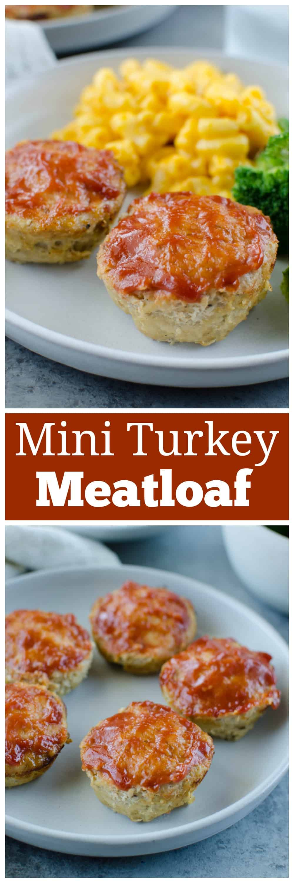 Mini Turkey Meatloaf - turkey meatloaf cooked in just 20 minutes in a muffin pan! Easy, healthy, and delicious dinner.