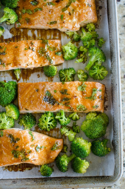 Asian-Glazed Sheet Pan Salmon and Broccoli