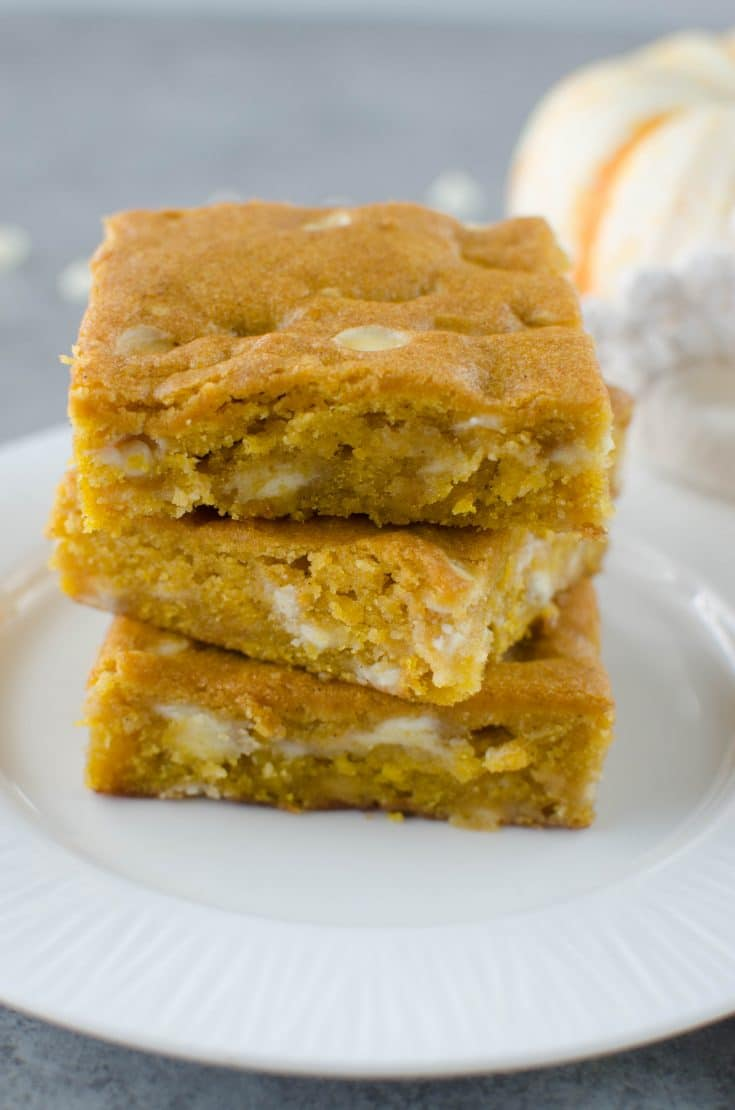 Pumpkin White Chocolate Blondies