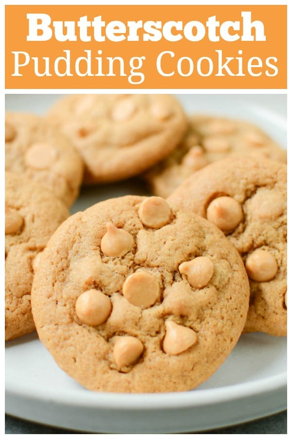 Butterscotch Pudding Cookies - delicious and soft butterscotch cookies with butterscotch chips. A quick and easy cookie recipe!