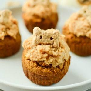 Peanut Butter Pumpkin Pupcakes