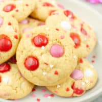 Valentine's Day Pudding Cookies