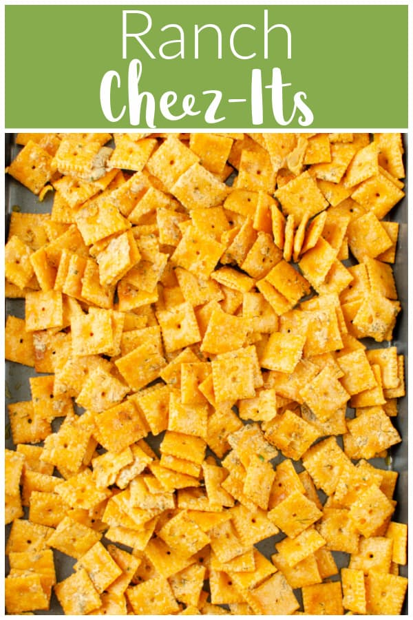 Ranch Cheez-Its - classic Cheez-It crackers covered in a butter ranch seasoning and baked until extra crispy and delicious!