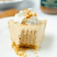 No Bake Cookie Butter Pie