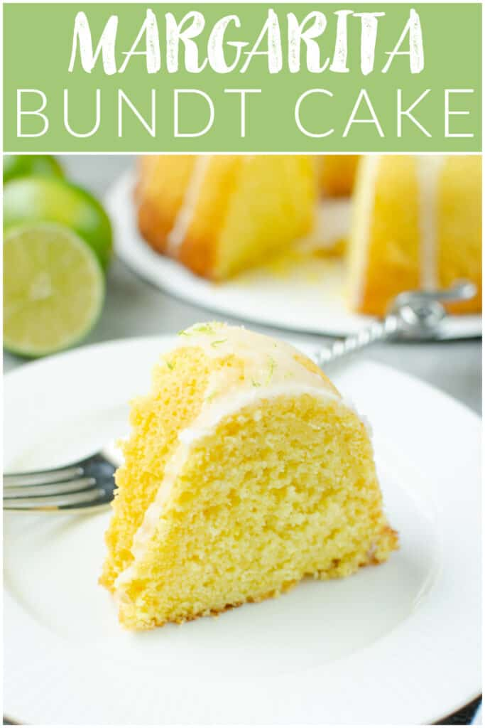 Margarita Bundt Cake - easy and delicious cake that tastes just like your favorite cocktail, without the booze! It starts with a cake mix so it's really quick!